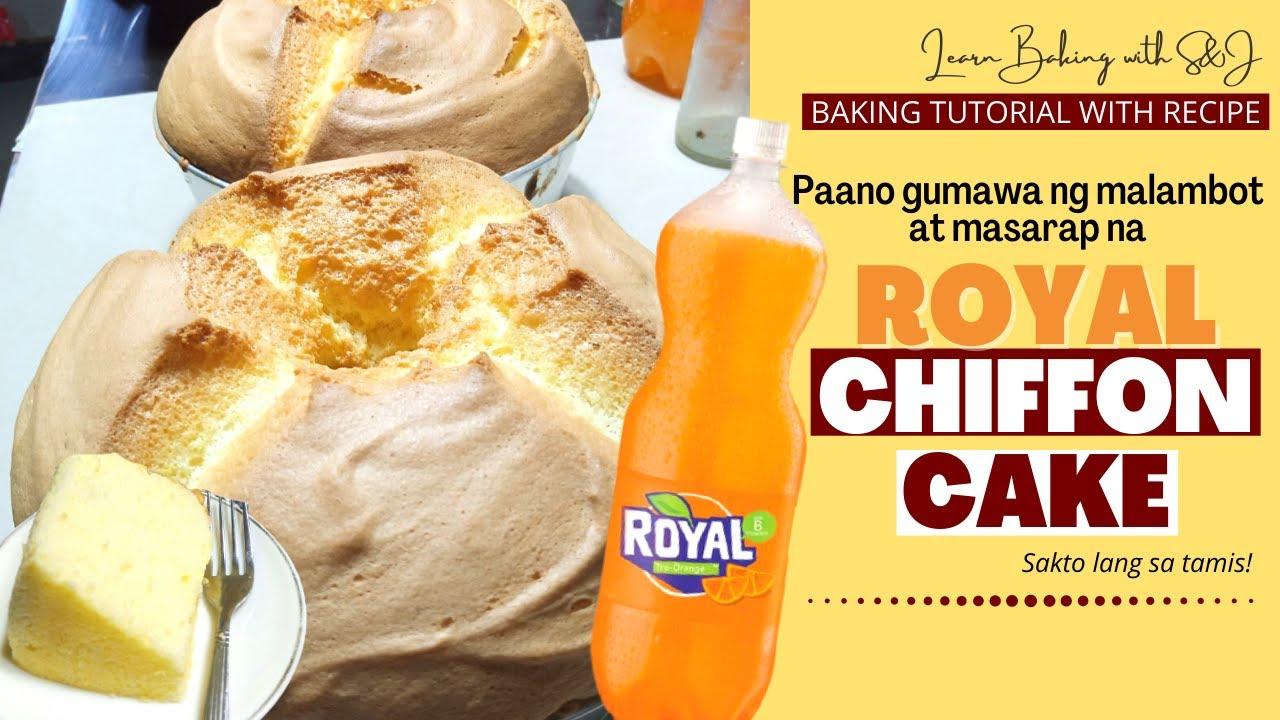 How to make Royal chiffon cake   PAANO GUMAWA NG CHIFFON CAKE