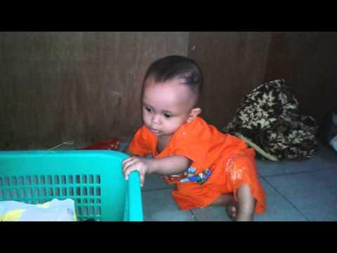 Alif01 umur 7 bulan lincah