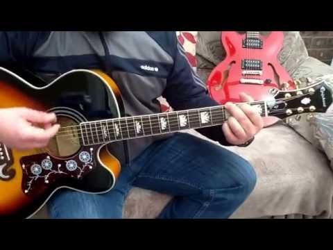 Oasis-Stand by Me-Acoustic guitar lesson.