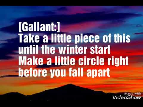 Gallant - To Good To Be True ft. Sufjan Stevens & Rebecca sugar(Lyrics Video)