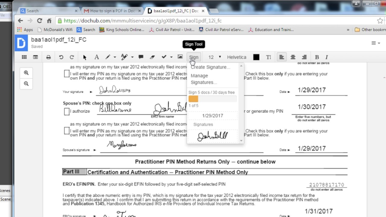 How to sign a PDF in Doc Hub Jan 28 2017