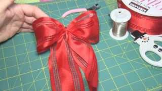How to Make an Easy Bow for a gift or Christmas tree - step by step instructions