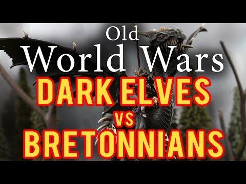 Bretonnia vs Dark Elves Warhammer Fantasy 6th Edition Battle Report - Older World Wars Ep 5