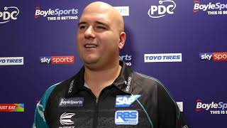 Rob Cross says it's 'CHALLENGE EXCEPTED' as he faces Peter Wright in titanic last 16 encounter