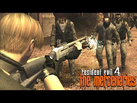 RESIDENT EVIL 4: 100% - THE MERCENARIES #44 - Leon na Base +100k PONTOS!