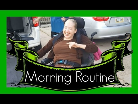 Micah's MORNING ROUTINE with Deb | Cerebral Palsy