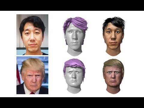 Avatar Digitization From a Single Image For Real-Time Rendering (SIGGRAPH Asia 2017)