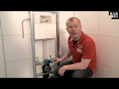 Hangend Toilet Plaatsen : Wandcloset met inbouwreservoir plaatsen youtube