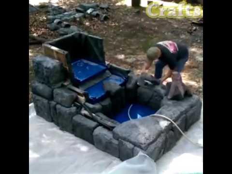 Hacer una fuente de agua para jardin crafts youtube - Fuente de agua para jardin ...