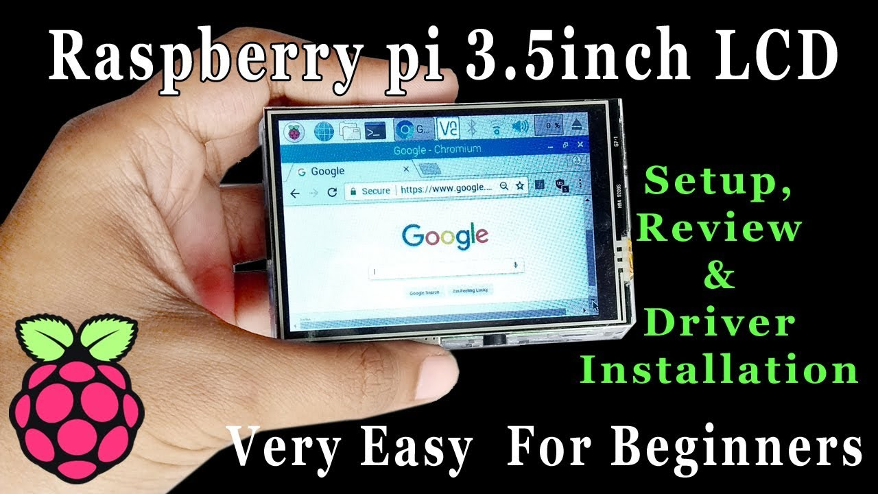 Raspberry pi 3 5 inch LCD screen | review| setup| installation driver