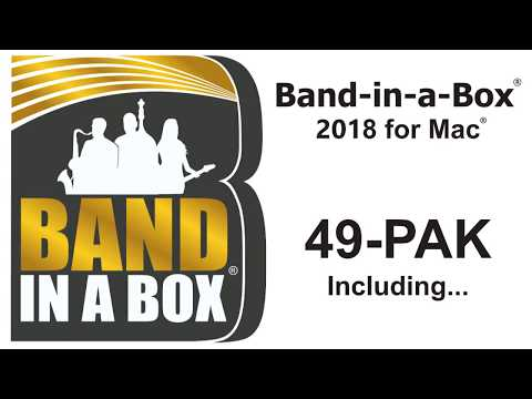 Band-in-a-Box® 2018 for Mac - 49-PAK Overview