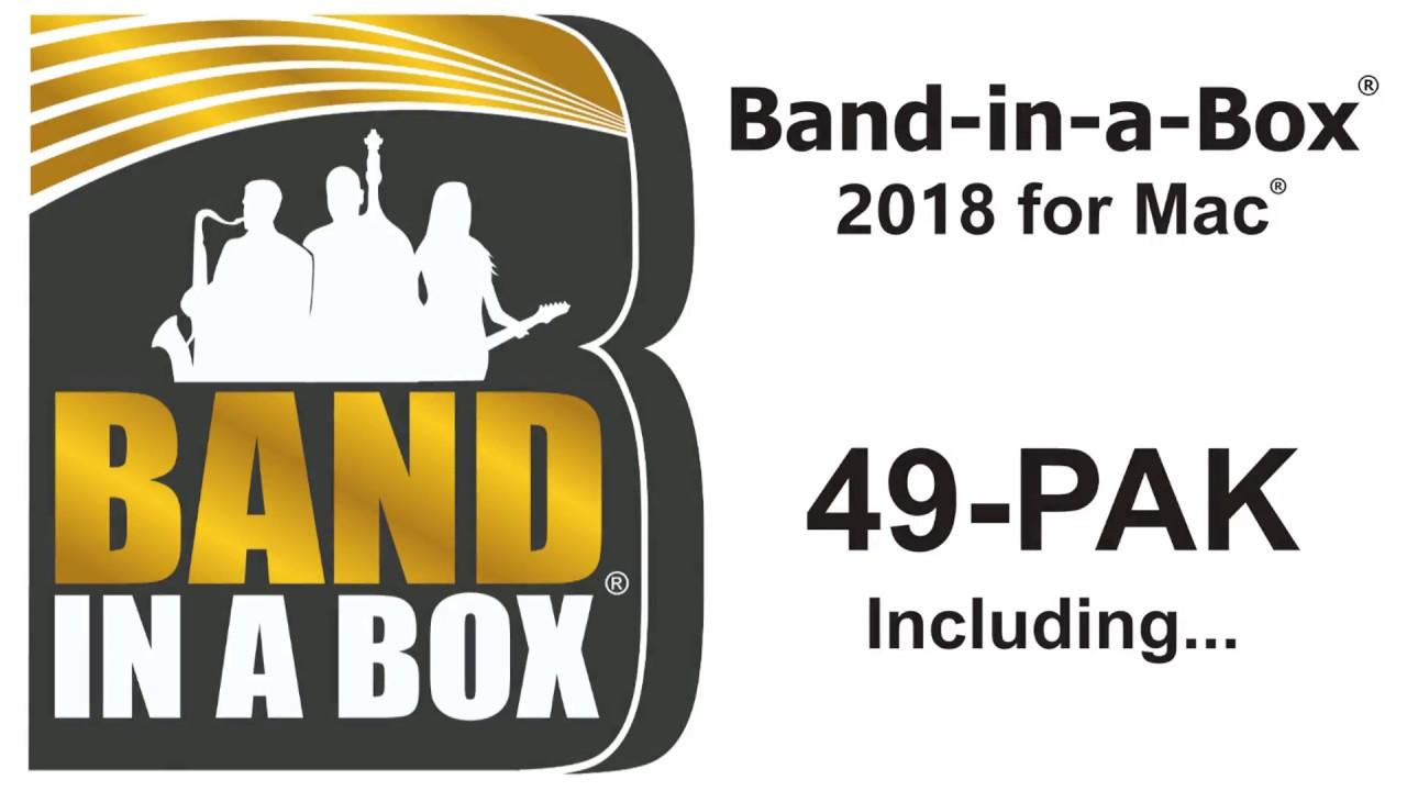 Band-in-a-Box 2018 UltraPlusPAK for Mac - Download