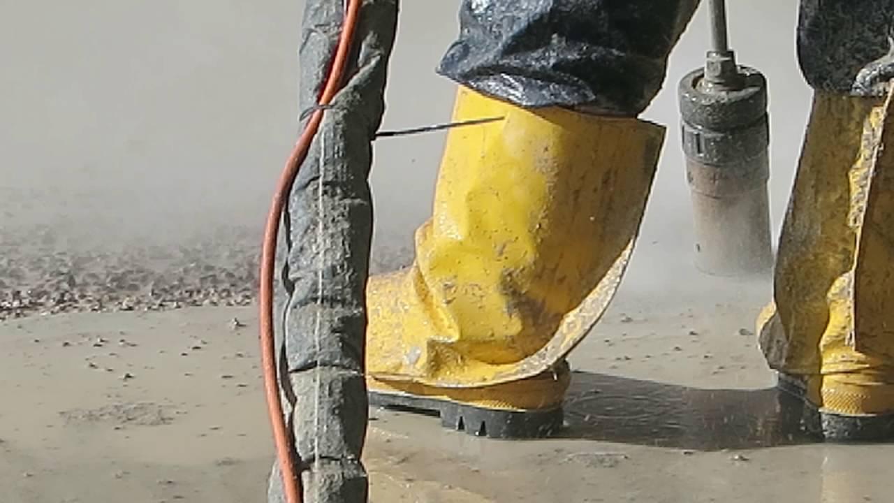 Betonsohle Hochstdruckwasserstrahlen Youtube