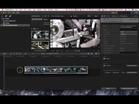 Final Cut Pro X 10.3.2 - Changing Aspect Ratio