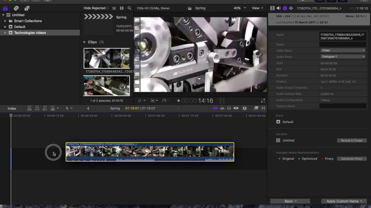 How to change aspect ratio in Final Cut Pro X - YouTube