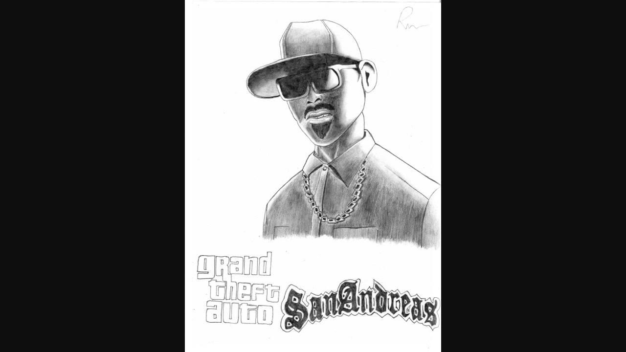Cj Scribble Drawing : Drawing gta san andreas by rusan youtube