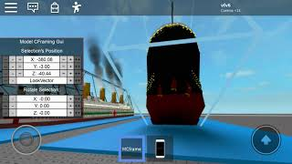 Sinking R.M.S Titanic 2 in roblox (WIP video)