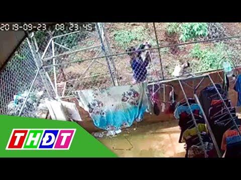 Camera ghi lại cảnh gã đàn ông trộm đồ lót phụ nữ   THDT