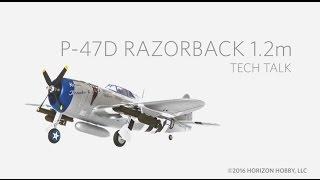 e flite p 47 razorback 1 2m pnp and bnf product spotlight