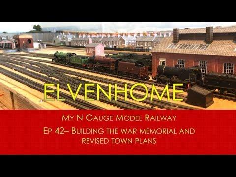N Gauge Model Railway -Scratch building a War Memorial EP42 Elvenhome