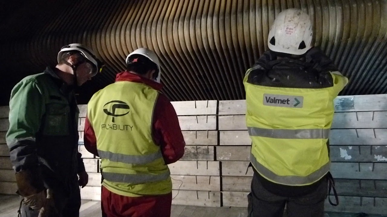 Inspection of a recovery boiler for Valmet in Mörrum, Sweden.