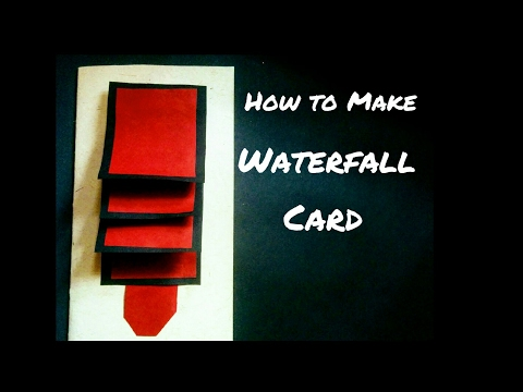 how-to-make-waterfall-card-|-waterfall-card-for-scrapbook