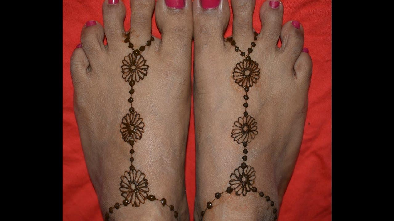 Easy Feet Mehndi Designs : Beautiful and easy feet mehandhi henna designs youtube