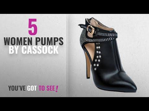 Top 5 Cassock Women Pumps [2018]: CASSOCKE Womens Handmade Fashion Ankle Strap High Heel Pointed Toe