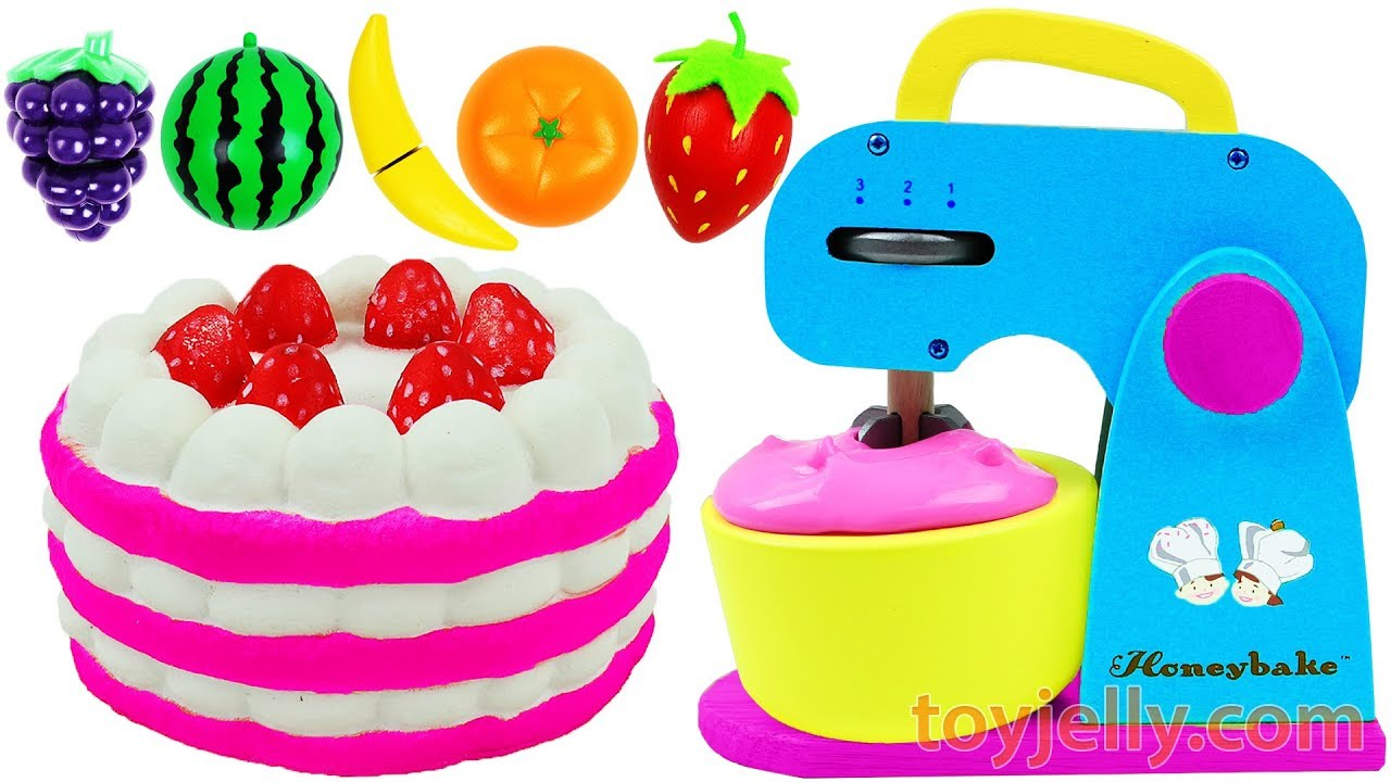 Just Like Home Toy Stand Mixer : Play doh strawberry cake blender mixer just like home