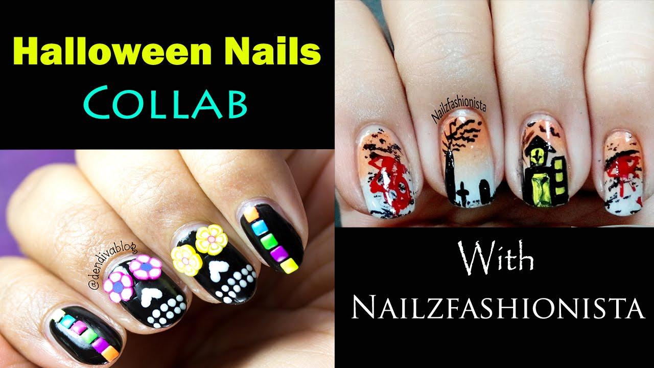Halloween Nail Art Sugar Skull Nails Collab With