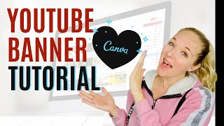 How To Make A YouTube Banner That Stands Out- (CANVA VIDEO TUTORIAL