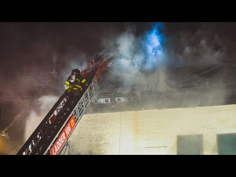 FDNY Battles 2 Alarm Building Fire in Greenpoint, Brooklyn