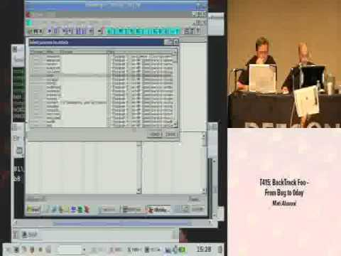 Backtrack Foo (From Bug To 0Day) Defcon 16