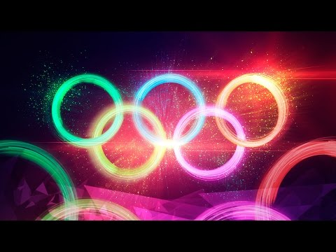Dramatic Particle Explosion Olympic Rings Artwork - Photoshop CC