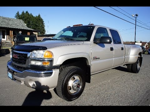 2005 Gmc Sierra 3500 Slt Crew Dually Duramax Turbo Diesel 4x4 At