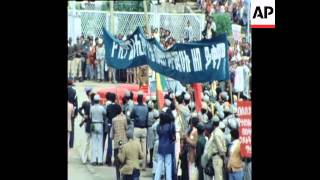 History: 1981 GADDAFI SPEAKING AT A RALLY IN ADDIS ABEBA