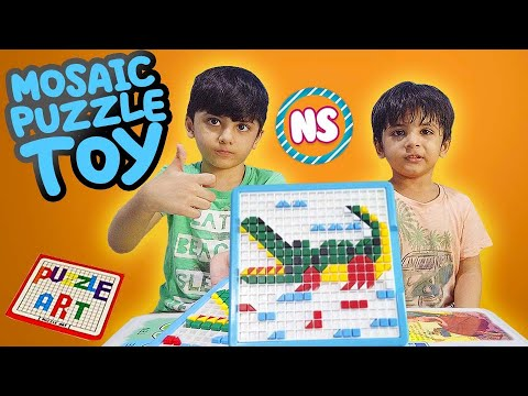 Unboxing Mosaic Puzzle Toy | M.Najiullah & M.Safiullah playing together. |