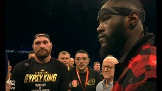 OFFICIAL !!! DEONTAY WILDER & TYSON FURY FACE OFF