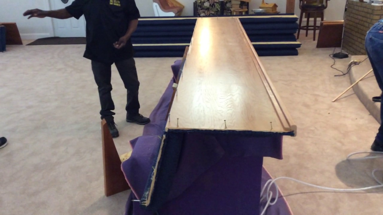 Church pew assembly by mid south church construction inc youtube church pew assembly by mid south church construction inc solutioingenieria Images