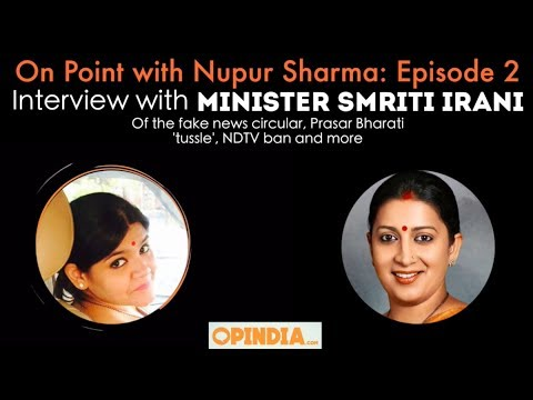 Episode 2 | On Point with Nupur Sharma | Interview with Minister Smriti Irani
