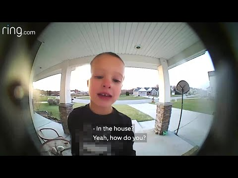 Boy uses Ring Doorbell to call dad