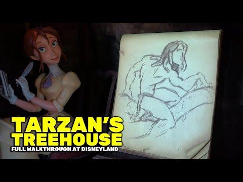 Tarzan's Treehouse (formerly Swiss Family Treehouse) FULL walkthrough attraction at Disneyland