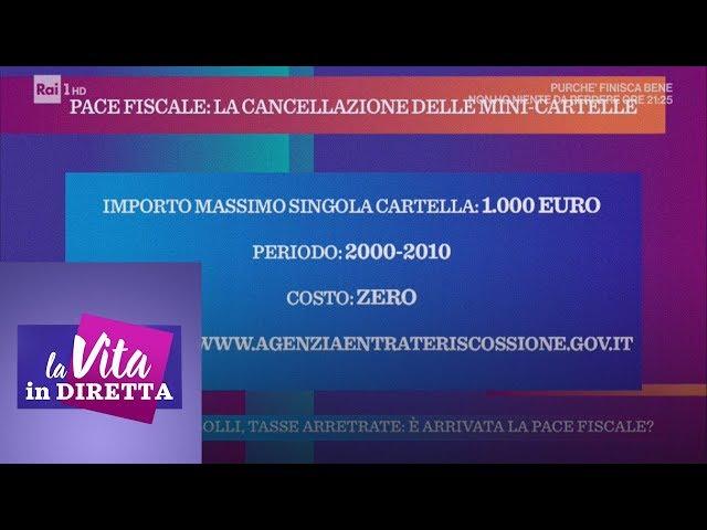 Multe, bolli, tasse arretrate: è arrivata la pace fiscale - La vita in diretta 15/01/2019