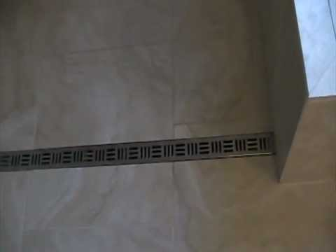 Curbless Shower With Noble Free Style Linear Drain Youtube