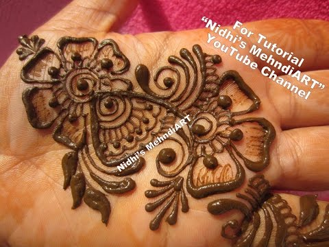 Mehndi For The Inspired Artist : Quick arabic henna mehndi art creation tutorial for beginners