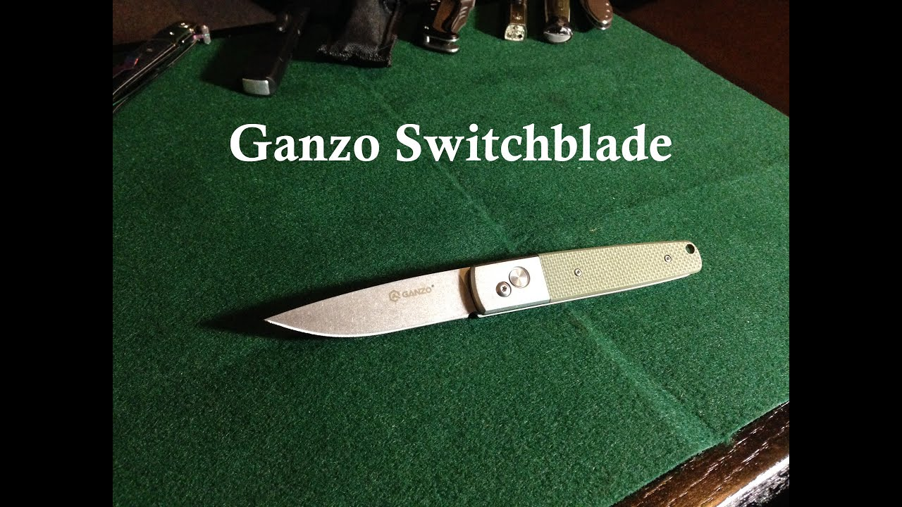 ganzo automatic switchblade knife review model g7212 gr youtube