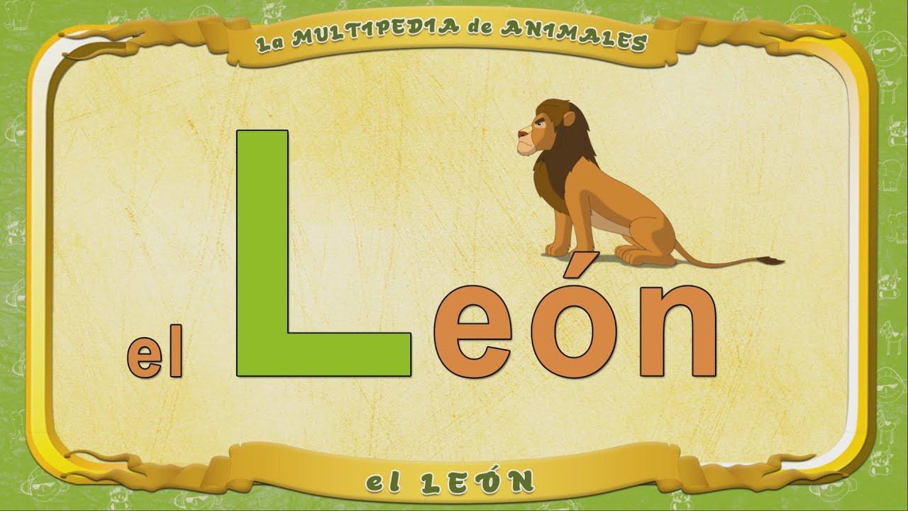 La Multipedia De Animales Letra L El León