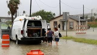 07/25/2020 Corpus Christi, TX- Hurrican Hanna causes major flooding in North Beach YouTube Videos