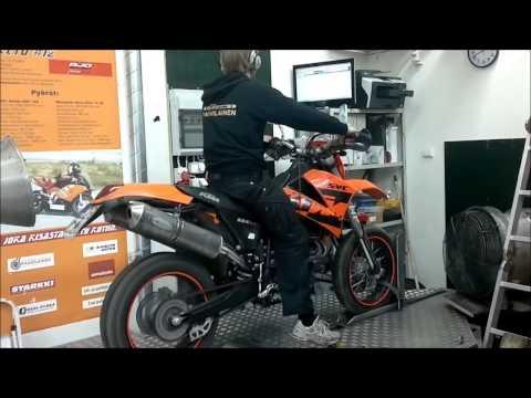 KTM 660 SMC DYNO setup