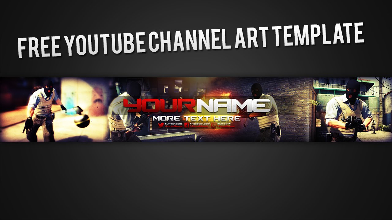 photoshop channel art template download youtube regarding